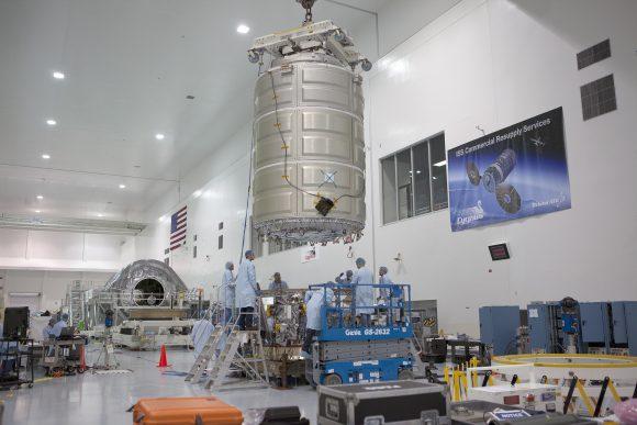Módulo presurizado de la Cygnus OA-6 (NASA/Orbital ATK).