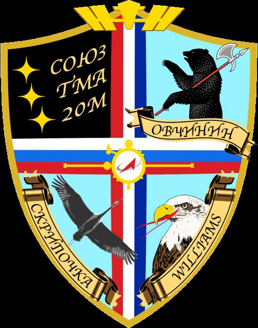 Emblema de la Soyuz TMA-20M (Roscosmos).