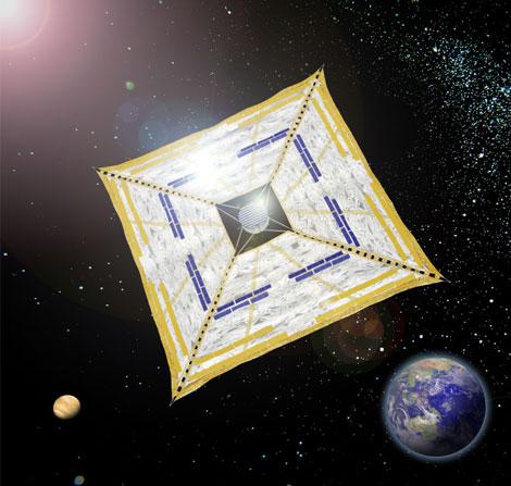 Vela solar japonesa Ikaros 1 (JAXA).