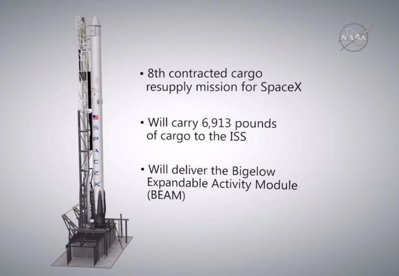 Características del lanzador de esta misión (NASA TV).