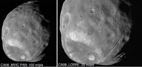 Simulación de la mejor imagen que obtendrá la New Horizons de 2014 MU69
