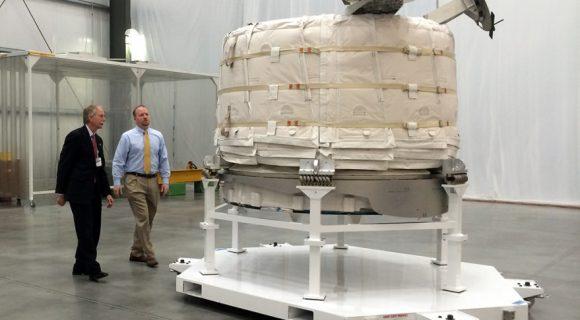 Módulo BEAM antes del vuelo (NASA).