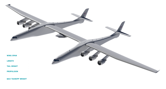 Aspecto de Roc (Stratolaunch).