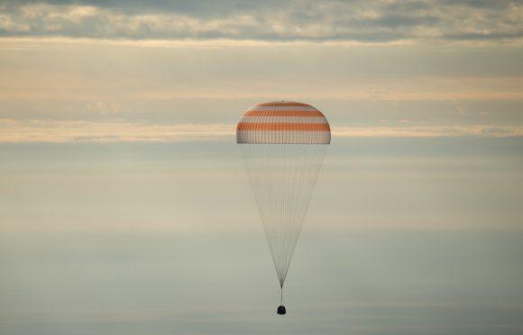 Regreso de la Soyuz MS (NASA).