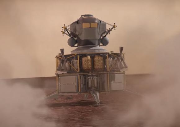 Aterrizando en Marte (Boeing).