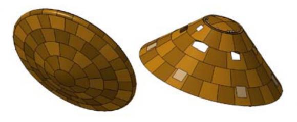 Escudo térmico de Schiaparelli (ESA).