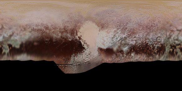 El mapa más completo de Plutón (NASA/The Planetary Society).