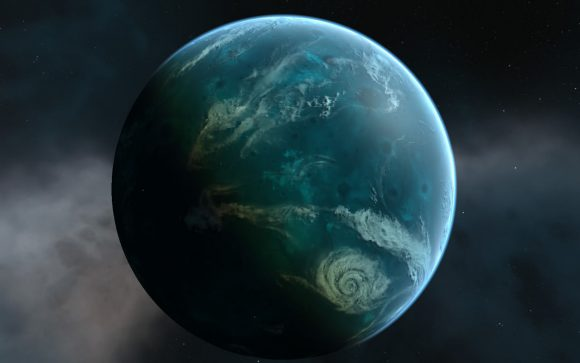 Mundos océanos, refugios de vida en la Galaxia (speculativeevolution.wikia.com).