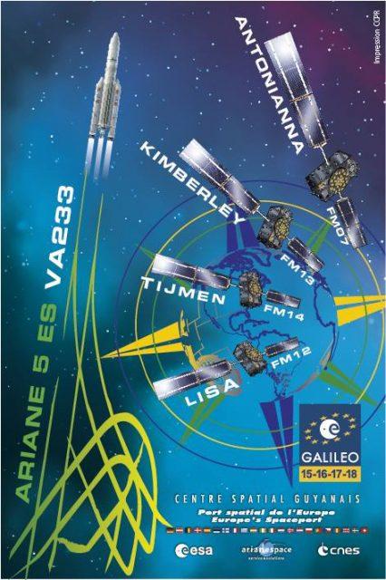 Cartel de la misión (Arianespace).