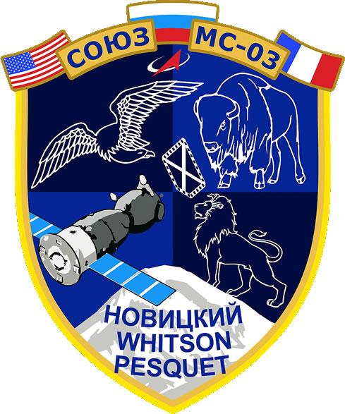 Emblema de la Soyuz MS-03 (Roscosmos).
