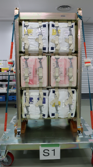 Bolsas de agua del HTV 6 (JAXA).