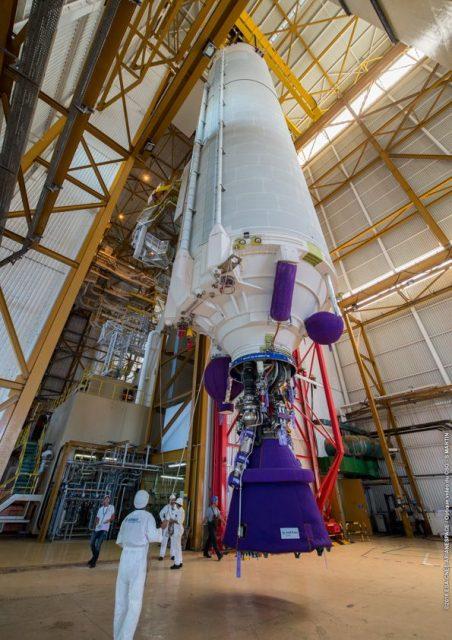 Etapa EPC de la misión VA232 en el edificio BIL (Arianespace).