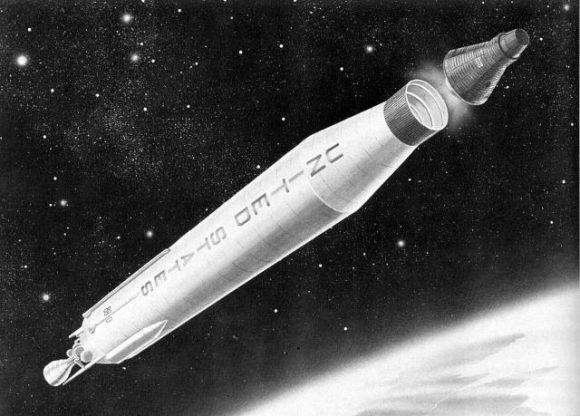 Una Mercury alcanza la órbita con un cohete Atlas (NASA).