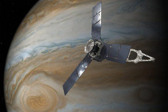 La sonda Juno intentará en 2017 alcanzar su órbita científica (NASA).