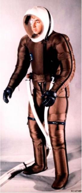 Prototipo de traje IVA ISSA de lso años 70 de la empresa ILC. También usaba cremallera para el casco (ILC).