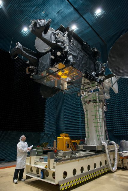 Prueba de las antenas del satélite (ESA).