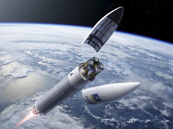 Lanzamiento de cuatro unidades del sistema de posicionamiento europeo Galileo con un Ariane 5 (ESA).