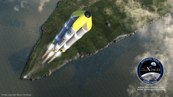 Una de las configuraciones del cohete Neptune.