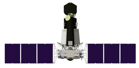 Vista general del Spektr-RG (NPO Lávochkin).