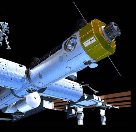 Módulo Axiom acoplado a la ISS (Axiom).