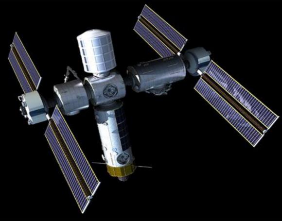 Estación de Axiom con a partir del módulo de la ISS (Axiom).