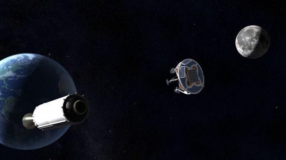 La sonda de SpaceIL despegará como carga secundaria a bordo de un Falcon 9 de SpaceX (SpaceIL).