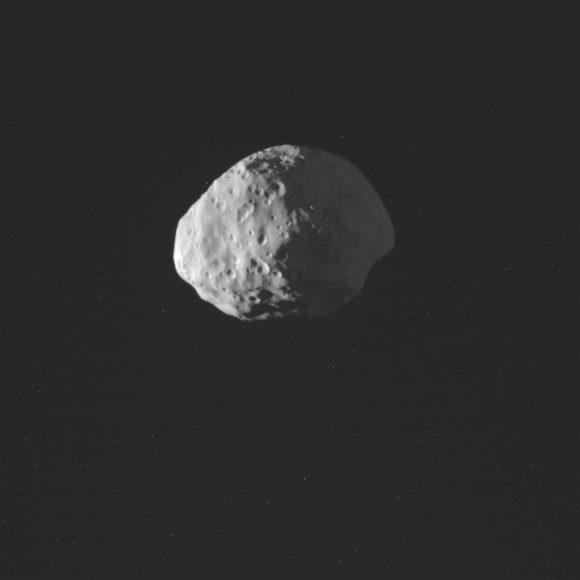 Epimeteo visto el 30 de enero (NASA/JPL-Caltech/Space Science Institute).