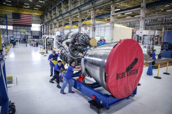 El primer motor BE-4 de metano y oxígeno líquido ya está listo (Blue Origin).