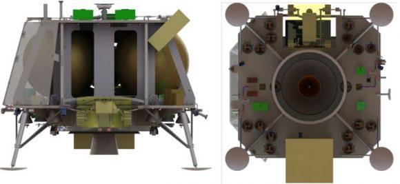 Detalle de la sonda HKK1 (Team Indus).