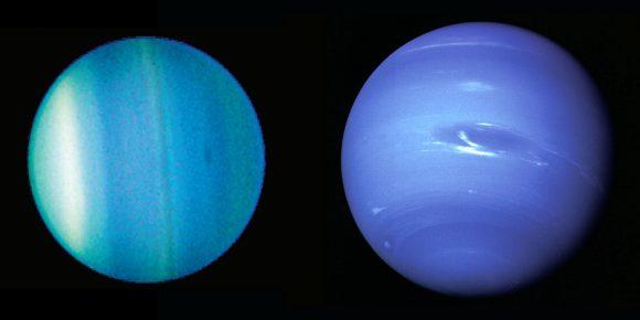 Urano (izquierda) y Neptuno (NASA).