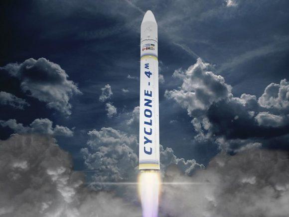 El nuevo cohete ucraniano Tsyklon 4M ().