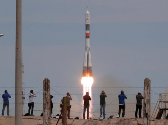 Lanzamiento de la Soyuz MS-04 (NASA).
