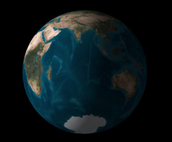 La Tierra vista desde Cassini el próximo 15 de septiembre en el momento que Cassini desaparezca (ASA).