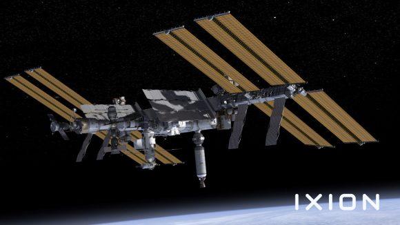 La ISS con Ixion acoplado (Ixion/spectrum.ieee.org).