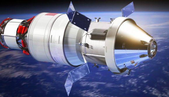 La nave Orión acoplada a la etapa ICPS antes de partir hacia la Luna (NASA).