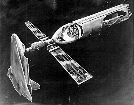 Uno de los muchos proyectos para usar el ET del shuttle como estación espacial (NASA).
