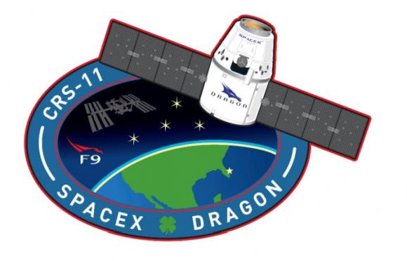 Emblema de la misión de SpaceX (SpaceX).