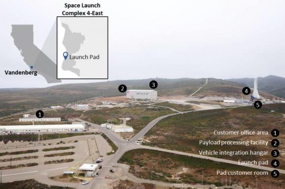 Rampa SLC-4E de Vandenberg (SpaceX).