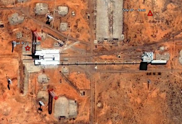 Rampa PU-1 del Zenit en Baikonur (Google).