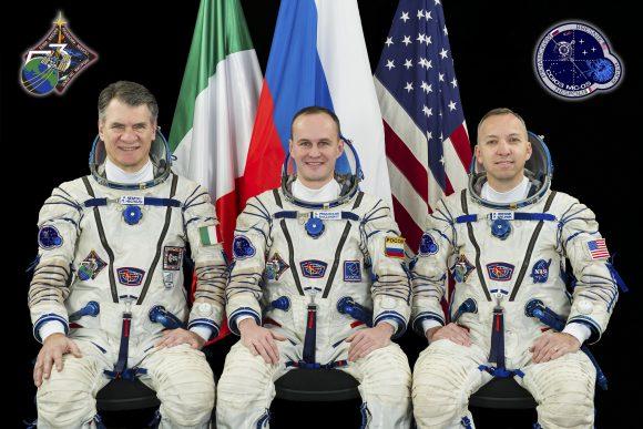 Tripulación de la Soyuz MS-05 (NASA/ESA).