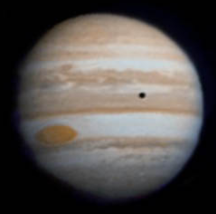 Júpiter visto por la Pioneer 10 en 1973 (NASA/JPL).
