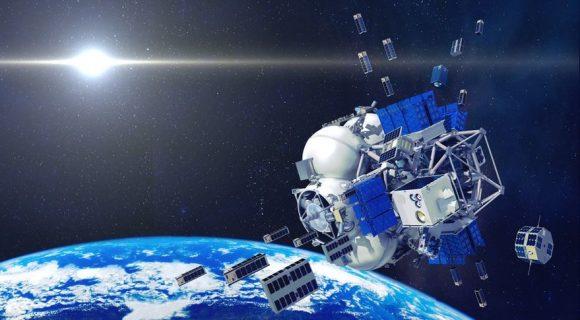 La etapa Fregat liberando los diferentes satélites (Roscosmos).