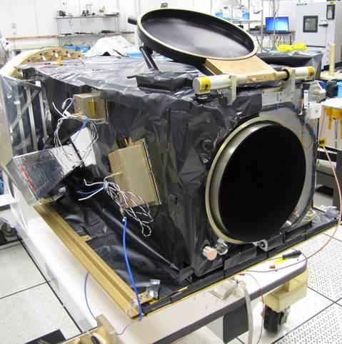 Detalle de la óptica del ORS-5 (Orbital ATK).