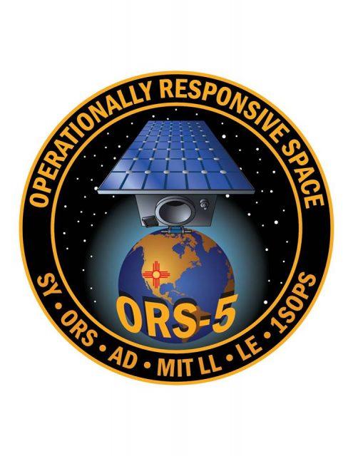 Emblema de la misión ORS-5 (Orbital ATK).
