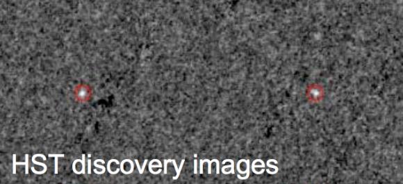 Imagen del descubrimiento de 2014 MU69 por el telescopio espacial Hubble (NASA/STScI).