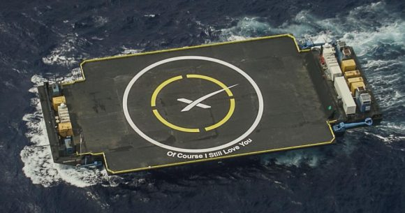 """Barcaza ASDS """"Just read the instructions"""" (SpaceX)."""
