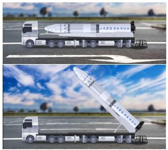 Sistema de lanzamiento móvil de LandSpace (chinaspaceflight.com)