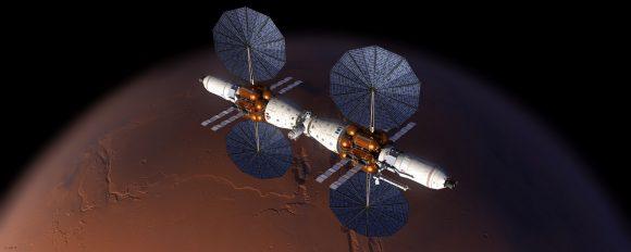 Propuesta Mars Base Camp para misiones a la órbita marciana (Lockheed-Martin).