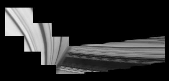 Imagen de los anillos y Saturno tomada por Cassini durante el sexto paso por el hueco (NASA/JPL-Caltech/Space Science Institute).