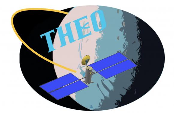Emblema de la misión THEO (NASA).